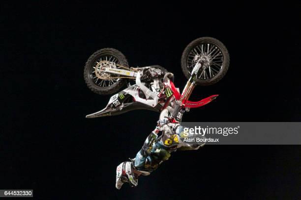 Nate Adams Back Flip Cordobes Show Monster Extreme Freestyler Stade Charlety Paris Photo Alain Bourdaux / Icon Sport