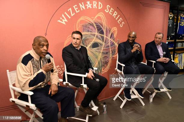 Nate Archibald Frank Isola Kobe Bryant and Tom Thibodeau launches Granity Studios' debut book The Wizenard Series Training Camp to young athletes at...
