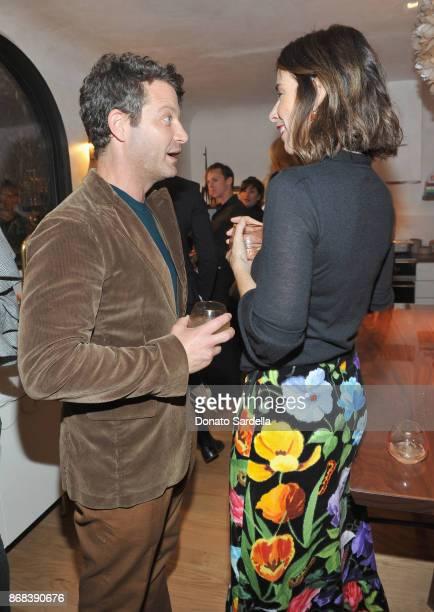 Nate Berkus and Irene Neuwirth attend Chairish x Athena Calderone Cook Beautiful LA Dinner at Irene Neuwirth Boutique on October 30 2017 in West...