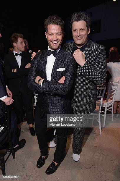 Nate Berkus and Isaac Mizrahi attend the Good Shepherd Services Spring Party hosted by Isaac Mizrahi at Stage 37 on April 24 2014 in New York City