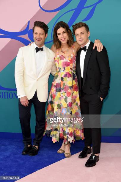 Nate Berkus Irene Neuwirth and Jeremiah Brent attend the 2017 CFDA Fashion Awards at Hammerstein Ballroom on June 5 2017 in New York City