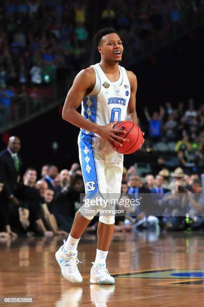 Nate Britt of the North Carolina Tar Heels looks on late in the game against the Oregon Ducks during the 2017 NCAA Men's Final Four Semifinal at...