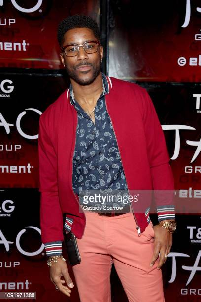 Nate Burleson attends TAO group's Big Game Takeover presented by Tongue Groove on January 31 2019 in Atlanta Georgia