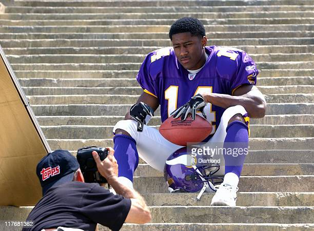 Nate Burleson Vikings during Reebok NFL Players Rookie Premiere Presented by 989 Sports at LA Coliseum in Los Angeles California United States