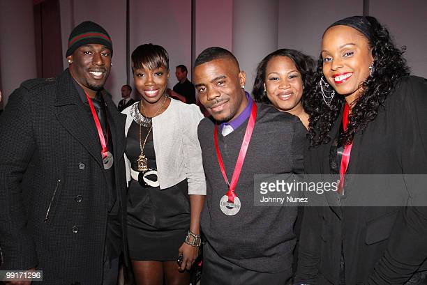 Nate Danja Hills Estelle Adonis Shropshire Janet Jnay SewellUlepic and Angela Hunte attend the 2010 SESAC New York Music Awards at the IAC Building...