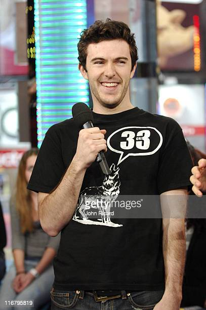 Nate Dern during Nate Dern and Cecille Gahr of 'Beauty and the Geek' Visit MTV's 'TRL' January 24 2007 at MTV Studios Times Square in New York City...