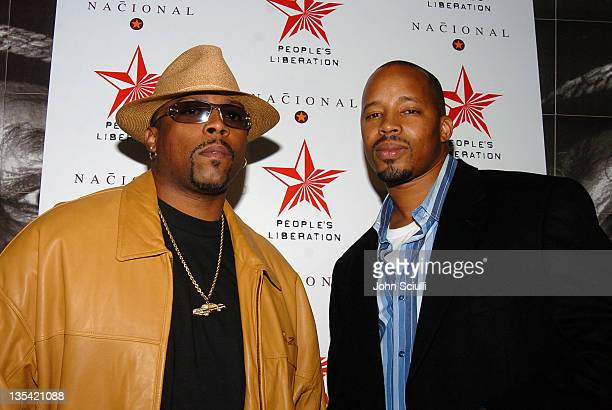 Nate Dogg and Warren G during People's Liberation Launch Party Hosted by Eve Arrivals in Los Angeles California United States