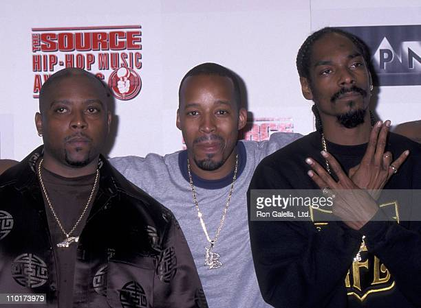Nate Dogg, Warren G and Snoop Dogg attend The Source Hip-Hop Awards on August 18, 1999 at the Pantages Theater in Hollywood, California.