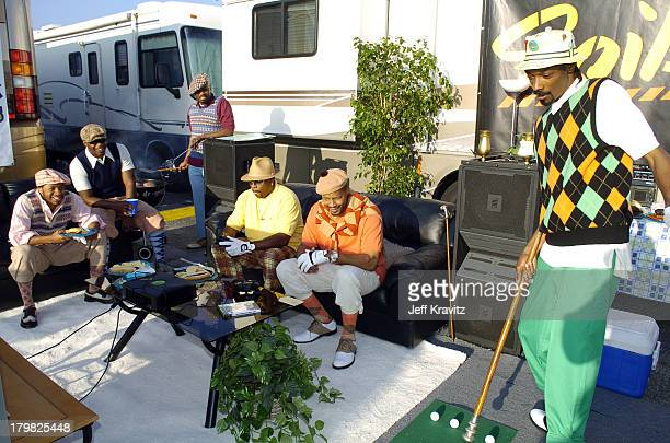 Nate Dogg Warren G and Snoop Dogg during Spike TV's 2nd Annual Video Game Awards 2004 Airing on Spike TV Live Tuesday 9pm Eastern Standard Time...