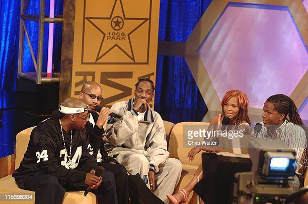 Nate Dogg, Warren G and Snoop Dogg with Free and AJ on BET's 106 & Park Live in Hollywood