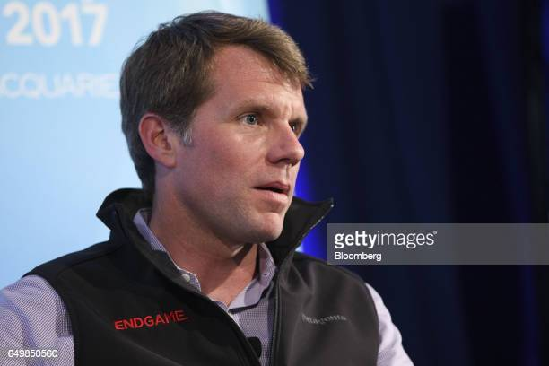 Nate Fick chief executive officer of Endgame Inc speaks during the Montgomery Summit in Santa Monica California US on Wednesday March 8 2017 The...
