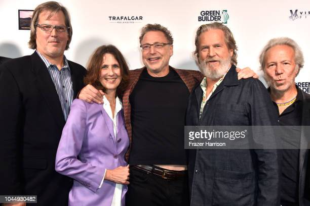 Nate Hagens director Susan Kucera Leonard Midiow Jeff Bridges Mark Plotkin attend Vision Films' 'Living In The Future's Past' at Ahrya Fine Arts...