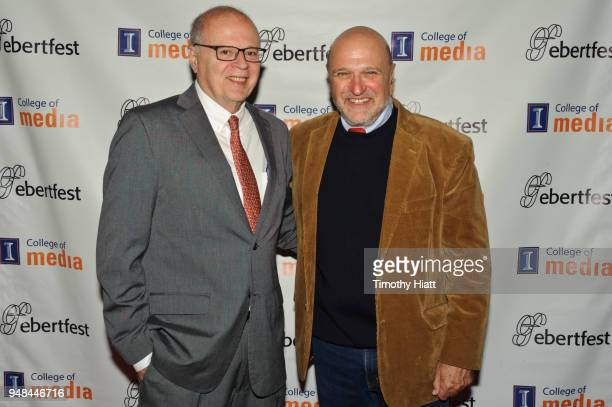 Nate Kohn and Andy Davis attend the Roger Ebert Film Festival at Virginia Theatre on April 18 2018 in Champaign Illinois