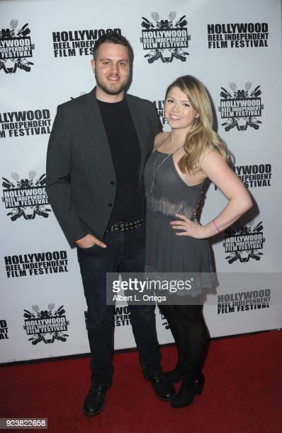 Nate Lezry and Hariet Austin attend the 17th Annual Hollywood Reel Independent Film Festival Award Ceremony Red Carpet Event held at Regal Cinemas LA...