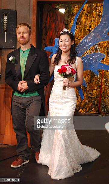 """Nate Mendel and Jenny Kuo during Foo Fighters Take Over MTV2 - """"24 Hours of Foo"""" - June 11, 2005 at MTV Building in New York City, New York, United..."""