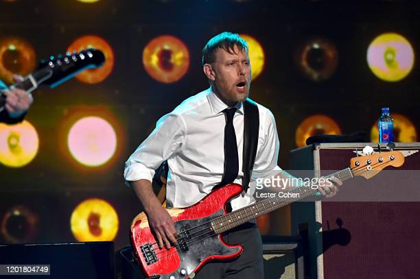 Nate Mendel of music group Foo Fighters performs onstage during MusiCares Person of the Year honoring Aerosmith at West Hall at Los Angeles...