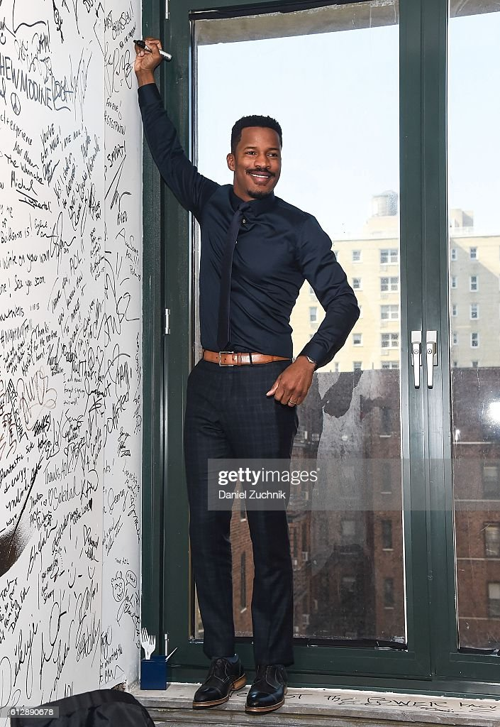 Nate Parker attends The Build Series to discuss 'The Birth Of A Nation' at AOL HQ on October 5, 2016 in New York City.