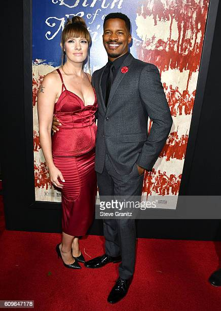 Nate ParkerSarah DiSanto arrives at the Premiere Of Fox Searchlight Pictures' The Birth Of A Nation at ArcLight Cinemas Cinerama Dome on September 21...