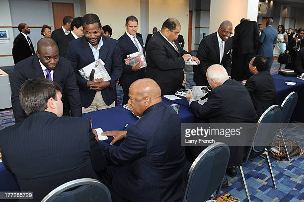 Nate Powell John Lewis Bob Adelman and Dr Rodney Sampson at the Emancipation Of Capital Gala And Awards Ceremony celebrating the 150th Anniversary of...
