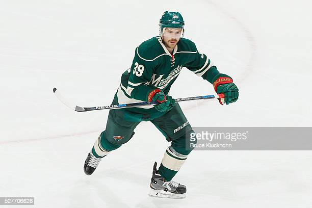 Nate Prosser of the Minnesota Wild skates against the Dallas Stars in Game Four of the Western Conference First Round during the 2016 NHL Stanley Cup...