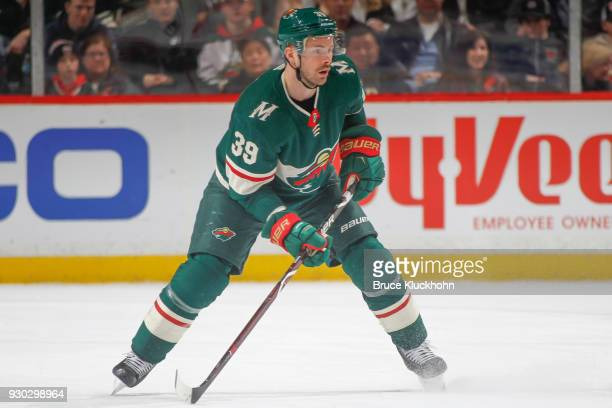 Nate Prosser of the Minnesota Wild skates against the Detroit Red Wings during the game at the Xcel Energy Center on March 4 2018 in St Paul Minnesota