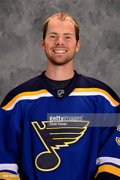 Nate Prosser of the St Louis Blues poses for his official headshot for the 20142015 season on September 18 2014 in St Louis Missouri
