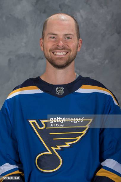 Nate Prosser of the St Louis Blues poses for his official headshot for the 20172018 season on September 14 2017 in St Louis Missouri