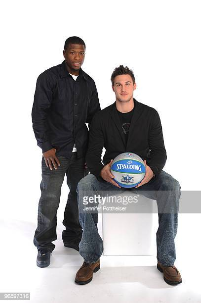 Nate Robinson and Danilo Gallinari of the New York Knicks pose for a portrait during the 2010 NBAE Circuit as part of the 2010 NBA All-Star Weekend...