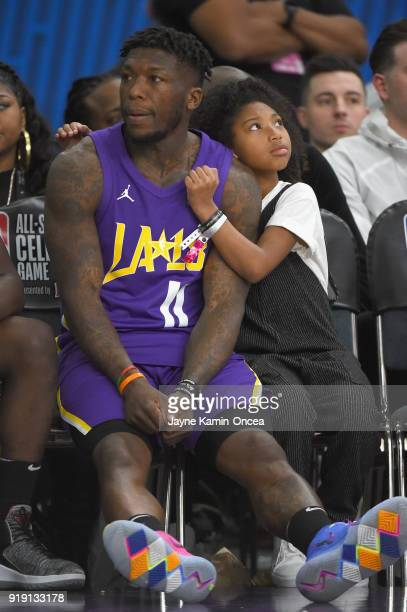 Nate Robinson looks on from the bench during the 2018 NBA AllStar Game Celebrity Game at Los Angeles Convention Center on February 16 2018 in Los...
