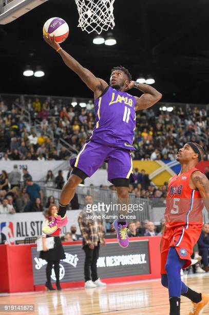 Nate Robinson plays during the 2018 NBA AllStar Game Celebrity Game at Los Angeles Convention Center on February 16 2018 in Los Angeles California