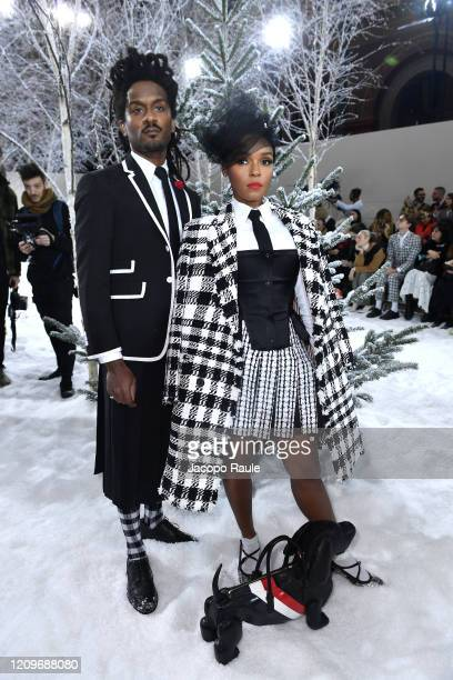 Nate 'Rocket' Wonder and Janelle Monae attend the Thom Browne show as part of the Paris Fashion Week Womenswear Fall/Winter 2020/2021 on March 01,...