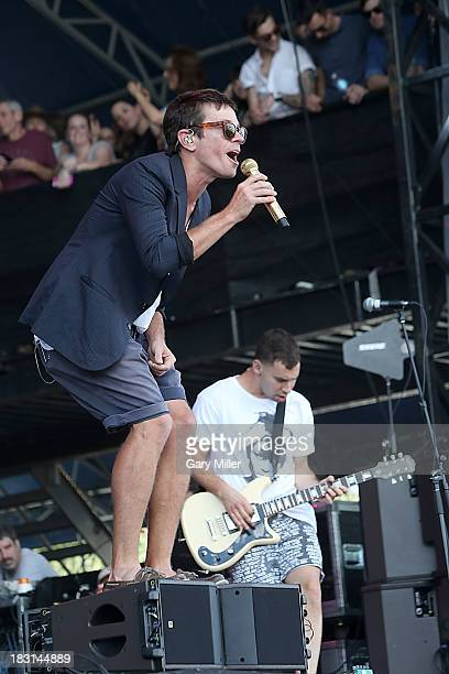 Nate Ruess and Jack Antonoff of Fun. Perform on Day 1 of Austin City Limits Music Festival at Zilker Park on October 4, 2013 in Austin, Texas.