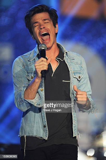 Nate Ruess of Fun performs at the BBC Radio 1 Teen Awards 2012 at Wembley Arena on October 7 2012 in London England