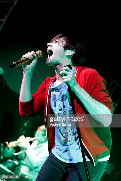 Nate Ruess of fun. Performs on stage at O2 Academy on April 16, 2013 in Leeds, England.