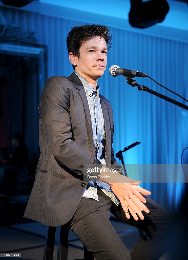 Nate Ruess of the band Fun. performs a private concert to celebrate Delta Air Lines' Nonstop NYC challenge at SLS Hotel on Feb. 4, 2013 in Beverly Hills, California.