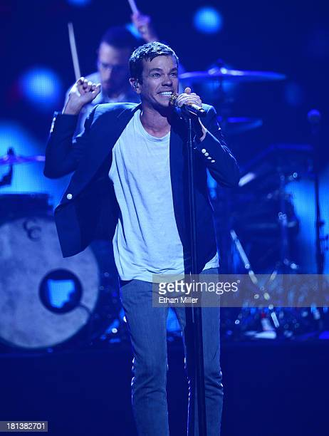 Nate Ruess of the band Fun. Performs onstage during the iHeartRadio Music Festival at the MGM Grand Garden Arena on September 20, 2013 in Las Vegas,...