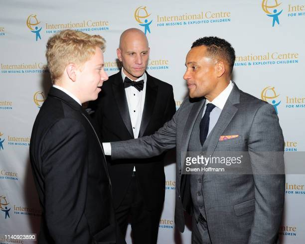 Nate Shapiro, Paul Shapiro and Hill Harper attend ICMEC Gala for Child Protection at Gotham Hall on May 2, 2019 in New York City.