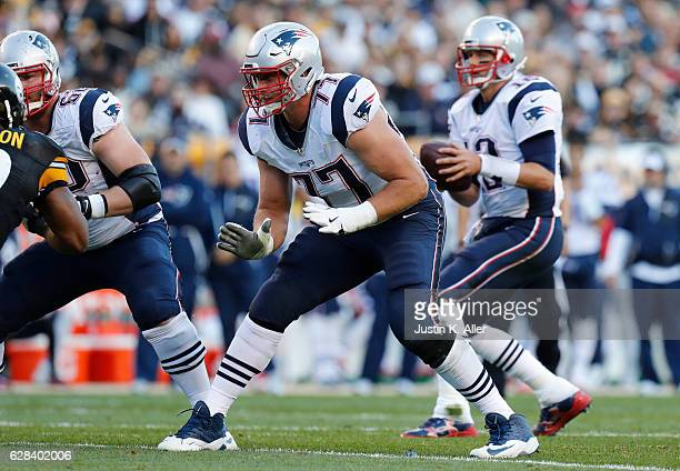 Nate Solder of the New England Patriots in action against the Pittsburgh Steelers at Heinz Field on October 23 2016 in Pittsburgh Pennsylvania