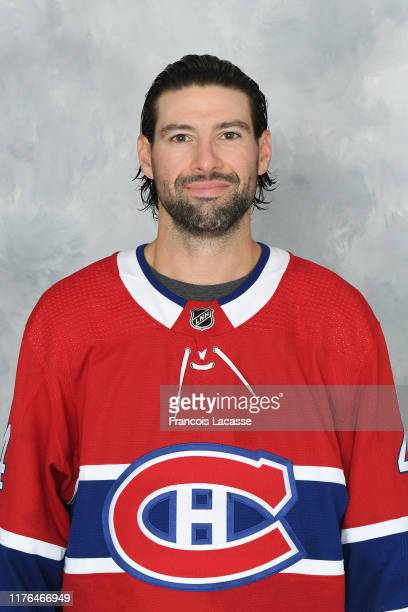 Nate Thompson of the Montreal Canadiens poses for his official headshot for the 20192020 season on September 13 2019 at the Bell Sports Complex in...
