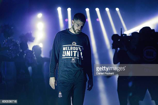 Nate Tomlinson of Melbourne United before the round 12 NBL match between Melbourne and Brisbane at Hisense Arena on December 26 2016 in Melbourne...