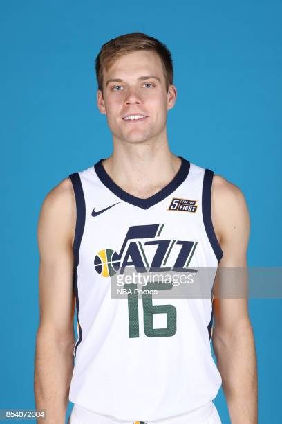 Nate Wolters of the Utah Jazz poses for a head shot during media day at Zions Bank Basketball Center on September 25 2017 in Salt Lake City Utah NOTE...