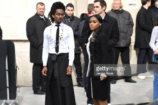 Nate Wonder and Janelle Monae attend the Chanel show as part of the Paris Fashion Week Womenswear Fall/Winter 2020/2021 on March 03 2020 in Paris...