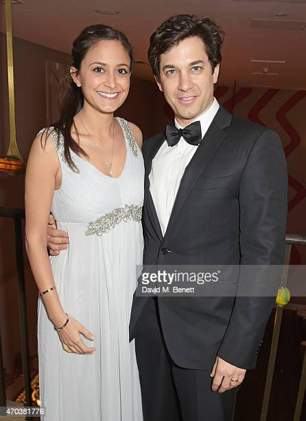 Nathalia Chubin and Adam Garcia arrive at Ham Yard Hotel for the After Party of The Old Vic's A Gala Celebration in Honour of Kevin Spacey on April...