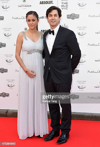 Nathalia Chubin and Adam Garcia attend A Gala Celebration in honour of Kevin Spacey at The Old Vic Theatre on April 19 2015 in London England