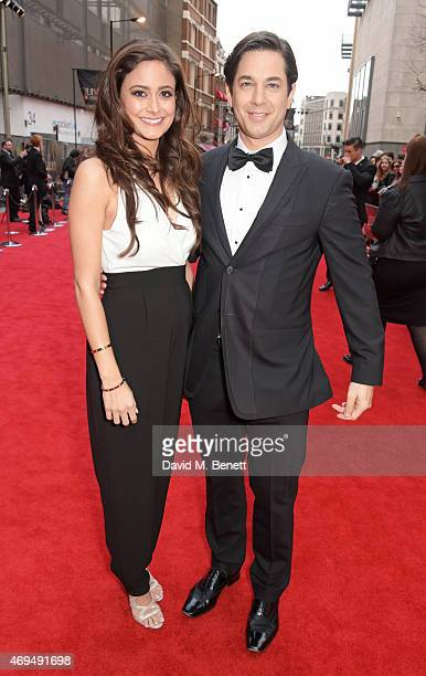 Nathalia Chubin and Adam Garcia attend The Olivier Awards at The Royal Opera House on April 12 2015 in London England
