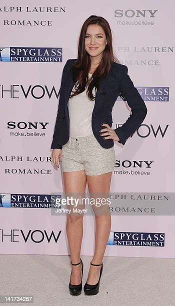 """Nathalia Ramos arrives at """"The Vow"""" Los Angeles Premiere at Grauman's Chinese Theatre on February 6, 2012 in Hollywood, California."""