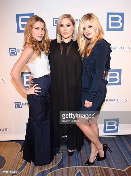 Nathalia Ramos Hayley Hasselhoff and Ana MulvoyTen attend the Berggruen Institute 5 Year Anniversary Celebration at The Beverly Wilshire on May 3...