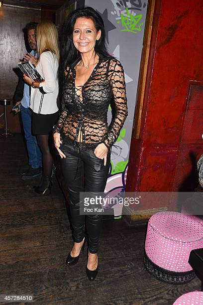 Nathalie Andreani from Secret Story 8 attends the Christophe Brachet And Factory Graff Design Exhibition Preview At Le Buddha Bar on October 15 2014...