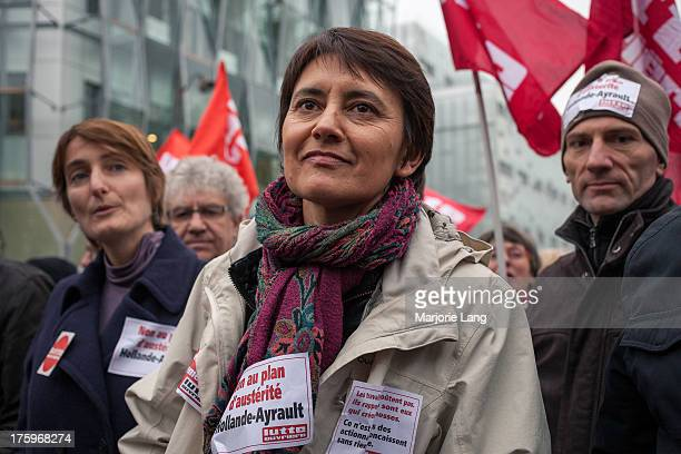 CONTENT] Nathalie Arthaud actual representative of Lutte Ouvriere at the Europe's day of antiausterity strikes and protests on november 14th 2012 in...
