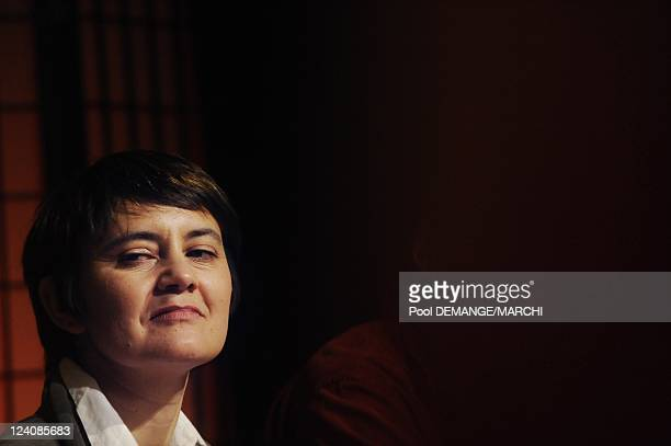 Nathalie Arthaud the new spokesman of the party 'Lutte ouvriere' candidat of the list for Europeen elections in Nancy France on March 15 2009 Unknown...